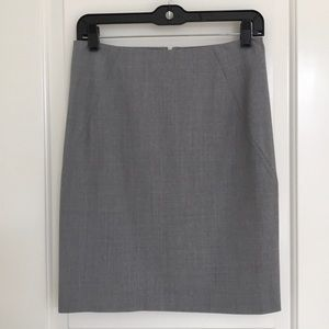 """Theory """"Tailor"""" Wool/Lycra Pencil Skirt"""